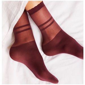 Free People Elouise Sheer Anklet Socks